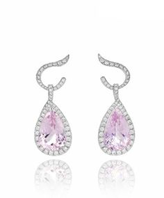 kunzite and diamonds