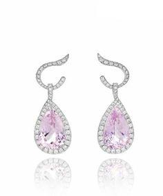 kunzite and diamonds