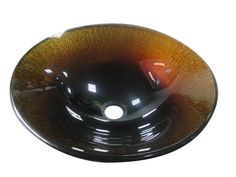 Audrey glass sink from Yosemite Home Decor