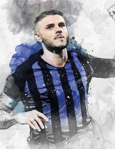 61 x Striker Mauro Icardi on Museum-quality poster with vivid print made on thick and durable Football Wallpaper, Art Print, Club, Shirt Dress, Wall Art, Digital, Trending Outfits, Unique Jewelry, Mens Tops
