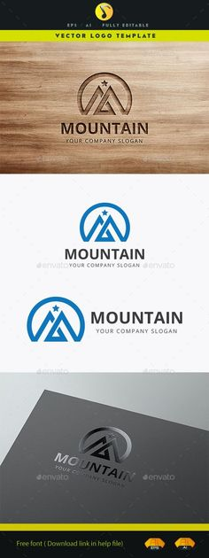 Top Mountain EPS Logo Template • Download ↓ https://graphicriver.net/item/mountain-/12190824?ref=pxcr