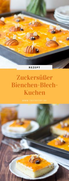 Zuckersüßer Bienchen-Blech-Kuchen - Halit Tura - Beyond Binary Easy Smoothie Recipes, Easy Smoothies, Easy Healthy Recipes, Coconut Recipes, Baking Recipes, Snack Recipes, Bee Cakes, Pumpkin Spice Cupcakes, Summer Desserts