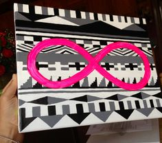 Canvas tribal painting!