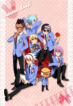 Soul Eater Host Club. YASSSSSSS THIS WOULD BE MY DREAM ANIME!!!!!
