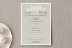 White Shadows Wedding Programs by Jessica Williams at minted.com