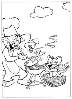 Disegni da colorare per bambini. Colorare e stampa Tom e Jerry 22