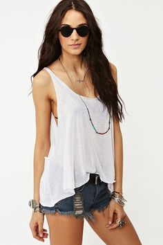 f17d0b6f8d The Skinny Tank in White Cute Summer Outfits