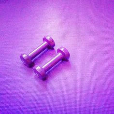 My purple dumbbells and my purple yoga mat Help Losing Weight, Lose Weight, My Yoga, Stay Fit, Health Fitness, Purple, Keep Fit, Fitness, Viola