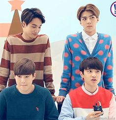 KAISOO. Suho: *I can seriously feel Kai looking D.O. Right now...* Sehun: *Wonder what it would be like with Luhan....*
