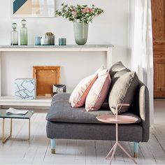 """""""Regram from @bemzdesign newly launched Bemz Respect collection. Why not dress your IKEA Söderhamn sofa in Bemz gorgeous fabric and a set of Prettypegs…"""""""
