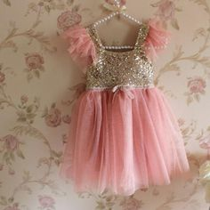 Pink and gold birthday dress