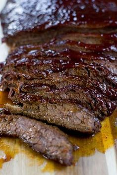 The Easiest Baked Brisket Recipe - Stuck On Sweet Easy baked brisket recipe that will leave you with a delicious meal. There is no need to smoke a brisket all night! Oven Baked Brisket, Grilled Brisket, Bbq Brisket, Smoked Brisket, Smoked Ribs, Smoked Beef, Brisket Sides, Texas Brisket, Brisket Sandwich