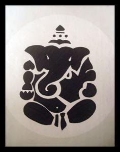 ganesha stencil - Google Search Ganesha, Buddha Drawing, Ganesh Images, Buddhism, Pumpkin Carving, Stencils, Crystals, Drawings, Stamps