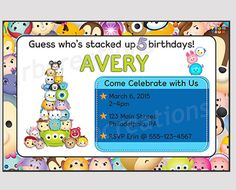 Hey, I found this really awesome Etsy listing at https://www.etsy.com/listing/224311358/tsum-tsum-birthday-invitation-tsum-tsum