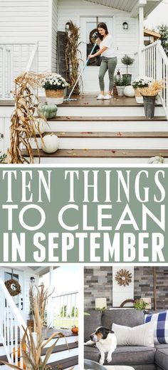 What to Clean in September | The Creek Line House Daily Cleaning, House Cleaning Tips, Diy Cleaning Products, Cleaning Hacks, Cleaning Recipes, Cleaners Homemade, Diy Cleaners, Brooms And Brushes, Fall Mums