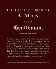 guys who are gentlemen