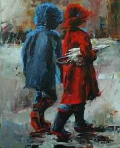 """Rain watch for two"" by Bev Jozwiak"