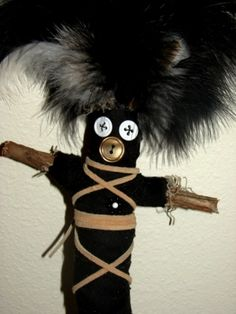 real voodoo dolls | Voodoo Doll Spell from the Necronomicon....These are cute but if the spell is real, I'm pretty sure I'll pronounce something wrong and curse myself! hahahaha