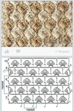 Crochet Diagram, Crochet Stitches, Crochet Projects, Crocheting, Rugs, Knitting, Tejidos, Food, Recipes