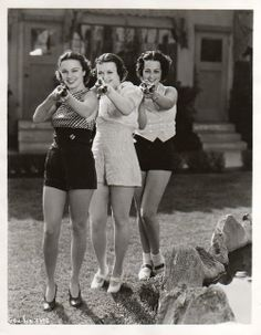 Gals with guns c.1940s