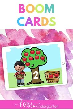 Students will practice counting in these digital boom cards for kindergarten. Students will count the apples. These are self checking kindergarten boom cards math. These are part of a mega kindergarten boom card bundle. Number Sense Activities, Kindergarten Math Activities, Math Literacy, Hands On Activities, M Learning, Daily Math, Student Motivation, Task Cards, Math Lessons