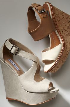Nude wedges are perfect for summer whites