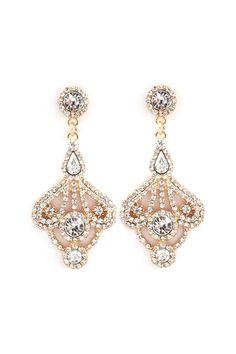 Leigh Chandelier Earrings in Gold//