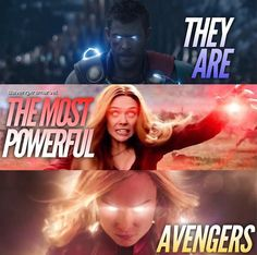 Just saying, Captain Marvel and Scarlet Witch are probably my favorites of the MCU universe. Most Powerful Avenger, Strongest Avenger, Marvel Dc Comics, Marvel Avengers, Marvel Heroes, Captain Marvel Powers, Marvel Logo, Ms Marvel, Elizabeth Olsen