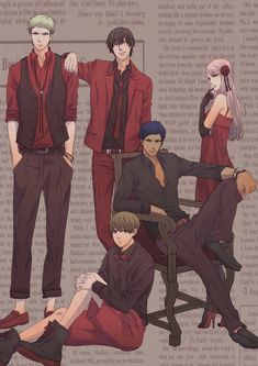 Shoichi Imayoshi, Satsuki Momoi and Daiki Aomine, the Apologetic Mushroom and the Captain (I don't remember their names xD)