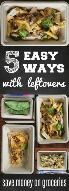 5 Easy Ways with Leftovers: Save money on Groceries - Tips and easy recipes that can save you hundreds of dollars on your grocery bill - 5 simple recipes ad #HeatAndEat Easy Chicken recipes and simple meal solutions @Target