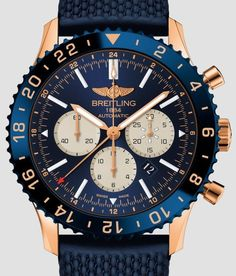 e4cc35153428 Breitling Chronoliner Watch In Red Gold Watch Releases