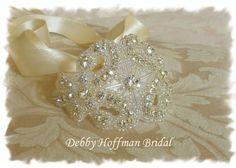 Bridal Cuff, Beaded Rhinestone Crystal Cuff Bracelet  No. 1166CB - Wedding Jewelry, Cuff Bracelet, Bridal Party Bracelet, Gift on Etsy, $24.00