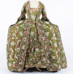 An 18th century wide French open court robe, c. 1750's.