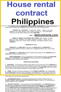 Simple House Rental Contract Philippines Templates In Pdf And Doc House Rental Rental Agreement Templates Room Rental Agreement
