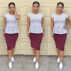 Casual style! Peplum top from Marshall's