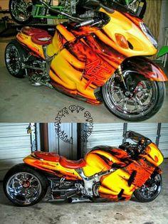 Custom Street Bikes, Custom Sport Bikes, Futuristic Motorcycle, Motorcycle Bike, Custom Hayabusa, Harley Davidson Trike, Suzuki Hayabusa, Chopper Bike, Sportbikes