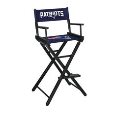 Denver Broncos Directors Bar Stool from Team Sports. Click now to shop NFL Kitchen & Bar Folding Chairs.