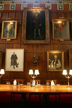 Dining Hall at Christ Church, Oxford. Alice eats the Cheshire Cheese here.