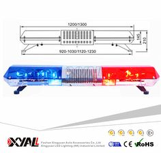 47 waterproof led light bar emergency signal light bar for switch off memory and rotating function red blue police vans led strobe warning signal light bars aloadofball Choice Image