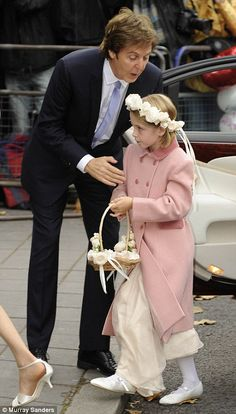 Me and my girl: Sir Paul McCartney with his daughter Beatrice at his wedding to Nancy Shevell.