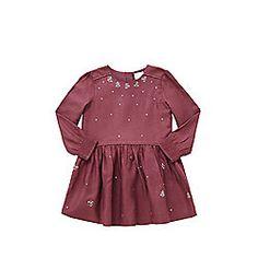 F&F Sequin Embellished Dress 2-3 yrs Purple