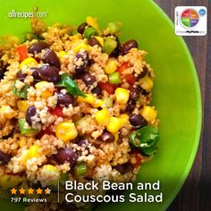 Black Bean and Couscous Salad from Allrecipes.com #myplate #protein #grain #veggies