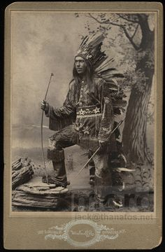 Rare 1800s Cabinet Card Photo / Onondaga Native American Indian Chief