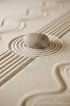 Breathe deep and let go of things ~ Miniature Zen garden by Whoopi