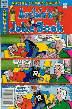 Archie's Joke Book 278, Archie Comic Publications https://www.pinterest.com/citygirlpideas/archie-comics/