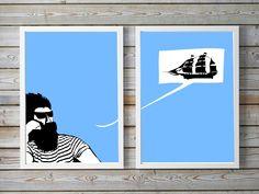 Schiff Ahoi Fine Art Prints, Poster, Polaroid Film, Design, Picture Frame, Art Prints, Design Comics, Posters, Movie Posters