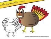 Thanksgiving Turkey Freebie product from The-Classroom-Clips on TeachersNotebook.com