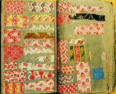 early 19th-century fabric sample book
