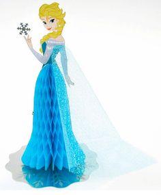 Disney Frozen Queen Elsa Honeycomb Pop Up Greeting Card