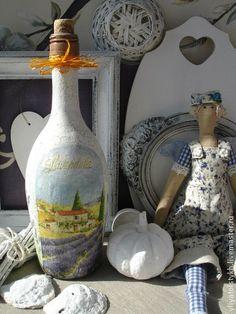 Подарочное оформление бутылок ручной работы. Ярмарка Мастеров - ручная работа Бутылки декоративные. Handmade.